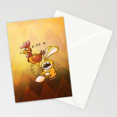 Easter Bunny Stealing an Egg from a Hen Stationery Cards