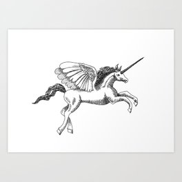 Arty Unicorn Art Print