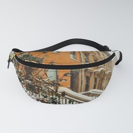 Brooklyn Wintertime is coming Brownstone Fanny Pack