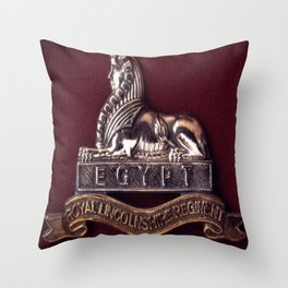 Royal Lincolnshire Regiment Throw Pillow