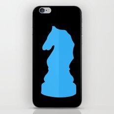 Blue Chess Piece - Knight iPhone & iPod Skin