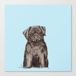 Louise adore les carlins Canvas Print
