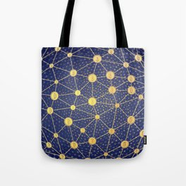 Cryptocurrency mining network Tote Bag