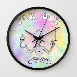 Far Out Alien (Pastel) Wall Clock