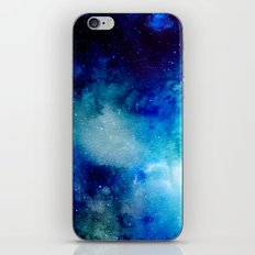 Blue Watercolor Space Pattern iPhone & iPod Skin