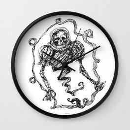 Skull with a Renaissance Spacehelmet Wall Clock