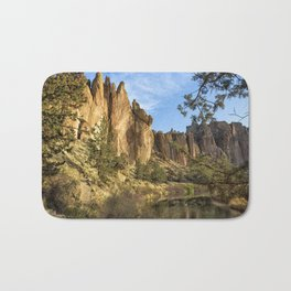 Cool Formations of Smith Rock in Morning Light Bath Mat