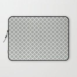 Quatrefoil in Silver Gray Laptop Sleeve
