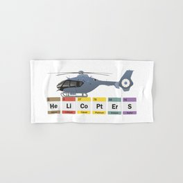 Civil Helicopters Chemistry Hand & Bath Towel