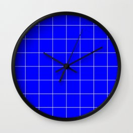 Graph Paper (White & Blue Pattern) Wall Clock