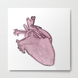 Lark Heart:Pink Metal Print