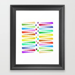 Rainbow Stripes Framed Art Print