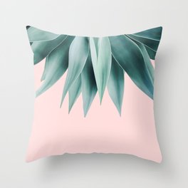 Agave fringe - blush Throw Pillow