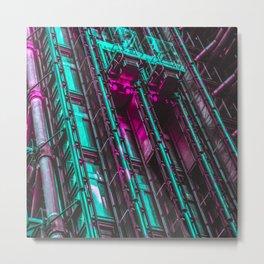 Cyberpunk Aesthetics Metal Print