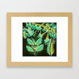 Irish Garden, Lime Green Flowers Dance in Joy Framed Art Print