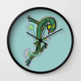 Celtic Medieval Frog Letter J 2020 Wall Clock