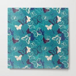 Butterfly pattern 008 Metal Print