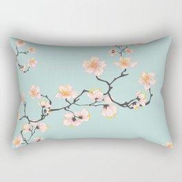 Sakura Cherry Blossoms x Mint Green Rectangular Pillow