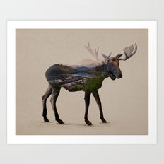 The Alaskan Bull Moose Art Print