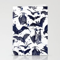 bats Stationery Cards featuring BATS by DIVIDUS DESIGN STUDIO