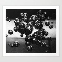 bubble. Art Print