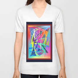 DIFFERENT DIRECTIONS IN ABSTRACT Unisex V-Neck