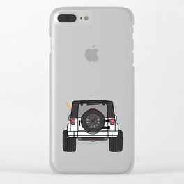 Jeep Wave Back View - White Jeep Clear iPhone Case