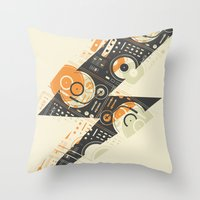 paramore Throw Pillows featuring Dj's Lightning by Sitchko Igor