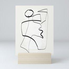 Abstract line art 6 Mini Art Print