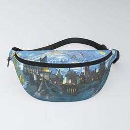 Starry Night Castle Fanny Pack