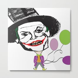 Joker Caricature  Metal Print