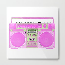 white boom box Metal Print