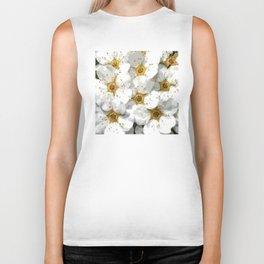 Flowers | Flower | Nadia Bonello | Vintage Inspired White Flowers Biker Tank