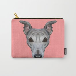 Whippet // Pink Carry-All Pouch