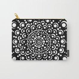 Black and White Mandala Dot Art Design Carry-All Pouch