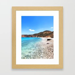 258. Paradise Beach, Greece Framed Art Print
