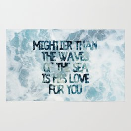 Mightier Than the Waves Rug