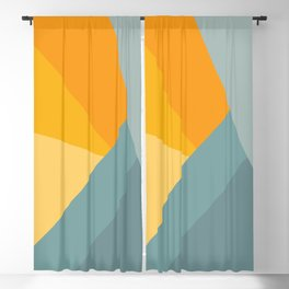 Abstract Mountain Sunrise Blackout Curtain