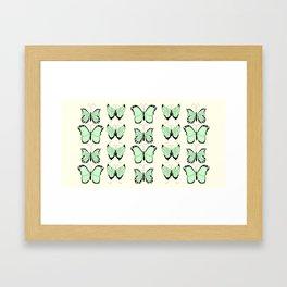 Jade butterflies Framed Art Print