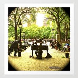 Pianoman in Central Park Art Print