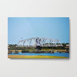 Figure Eight Island Bridge Metal Print