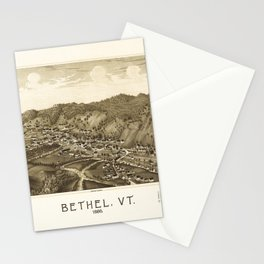 Aerial View of Bethel, Vermont (1886) Stationery Cards