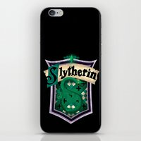 slytherin iPhone & iPod Skins featuring Slytherin by Zeynep Aktaş