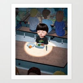 Alone at Lunchtime Art Print