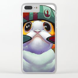 Helmed Porg Clear iPhone Case