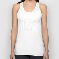 Blank Page Unisex Tank Top