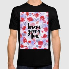 Lovers [Collaboration with Jacqueline Maldonado] Black Mens Fitted Tee MEDIUM