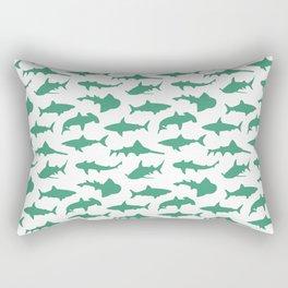 Ocean Green Sharks Rectangular Pillow