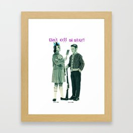 Bat off! Framed Art Print