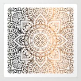 Gold Bronze Mandala Pattern Illustration Kunstdrucke